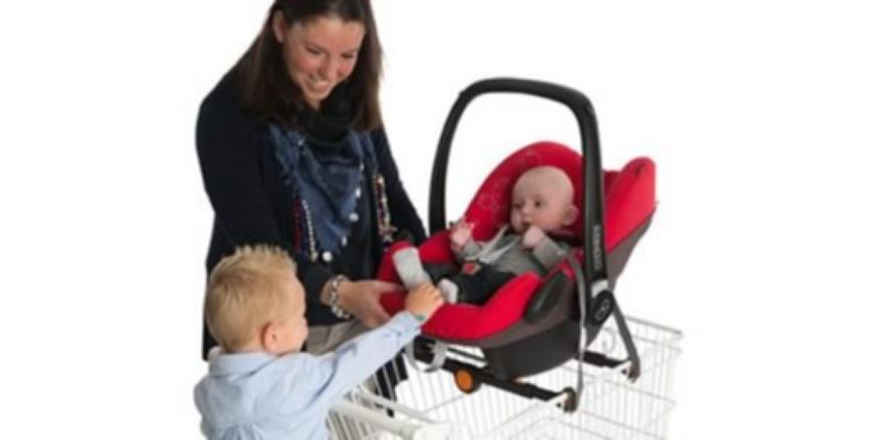 Oprez prilikom stavljanja beba u kolica za šoping